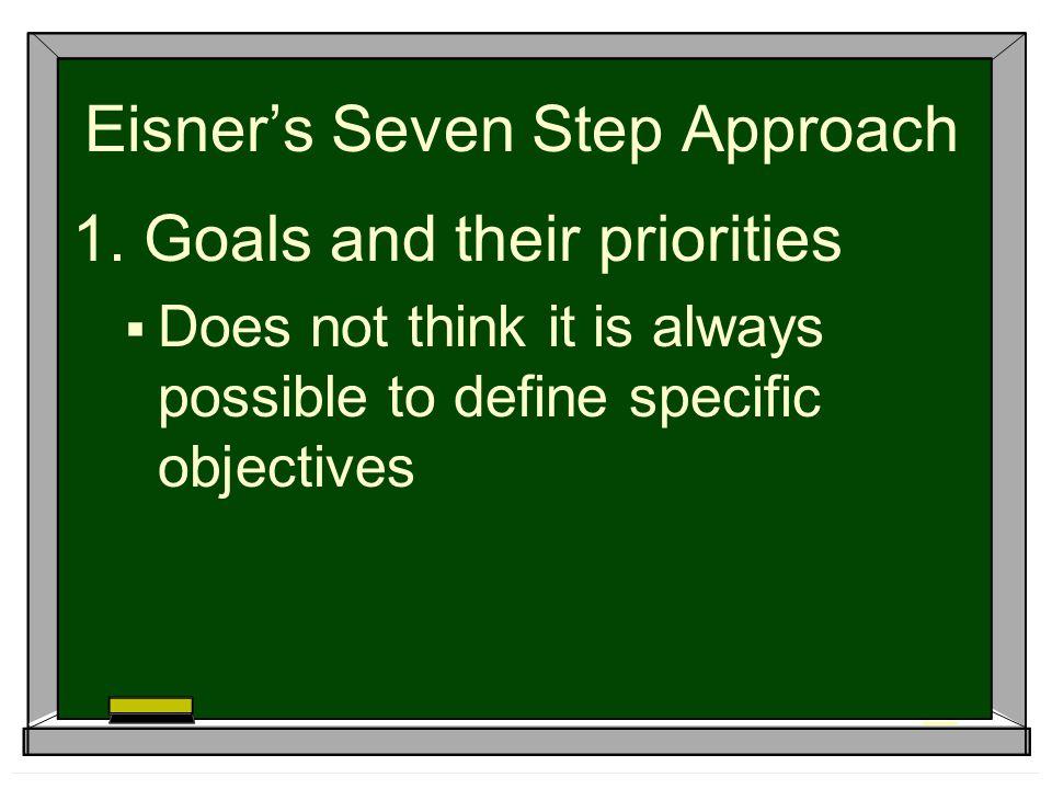 Eisner's Seven Step Approach