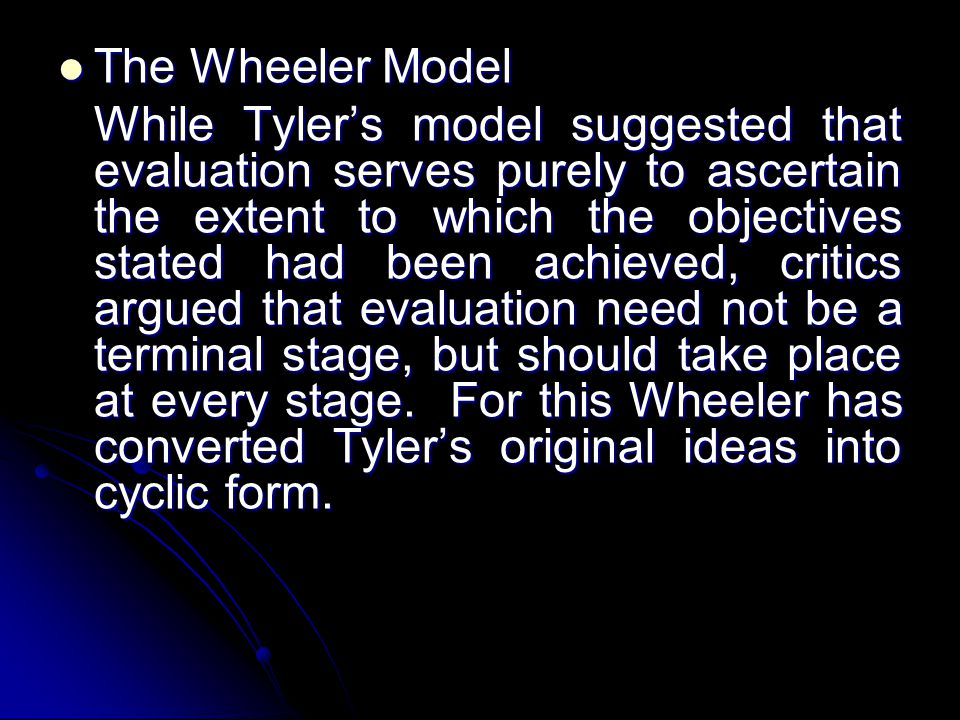 The Wheeler Model
