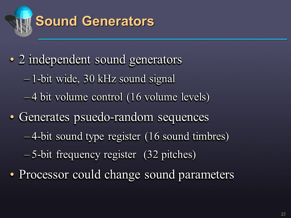 Sound Generators 2 independent sound generators