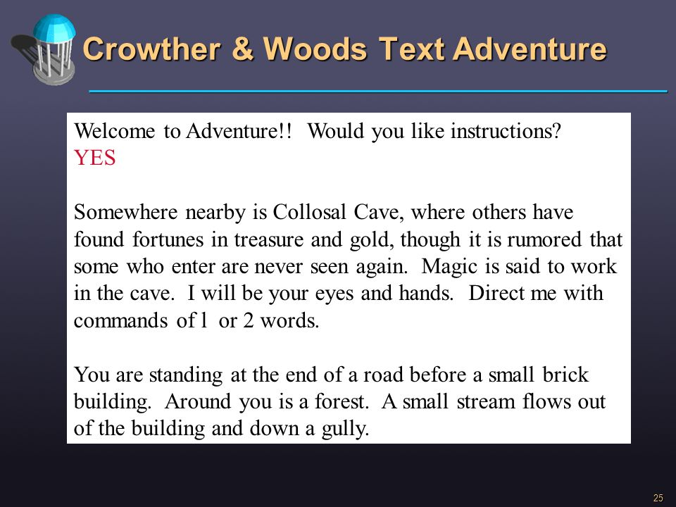 Crowther & Woods Text Adventure