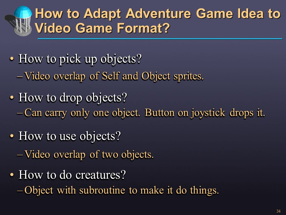How to Adapt Adventure Game Idea to Video Game Format