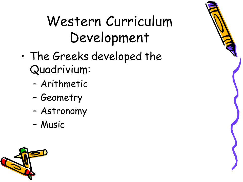 Western Curriculum Development