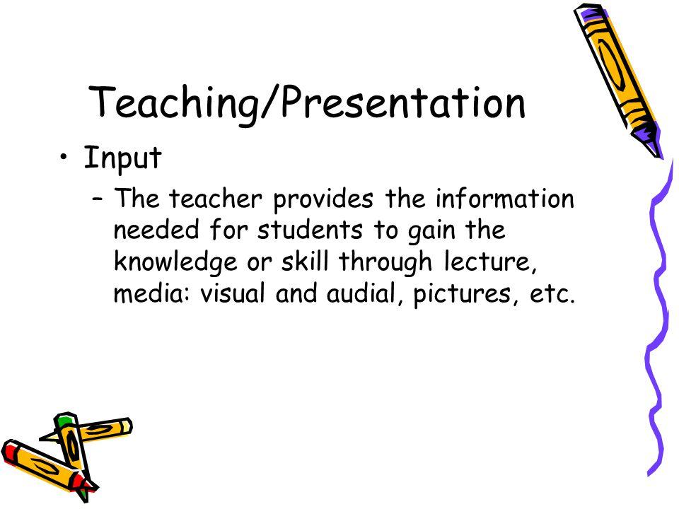Teaching/Presentation