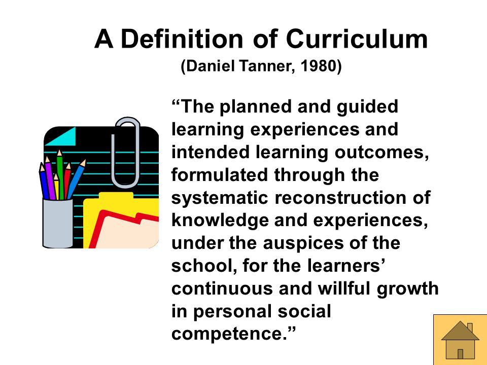 A Definition of Curriculum