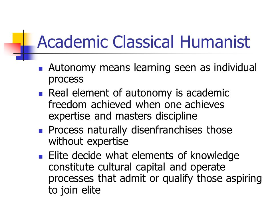 Academic Classical Humanist