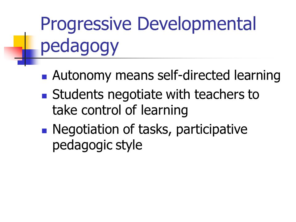 Progressive Developmental pedagogy