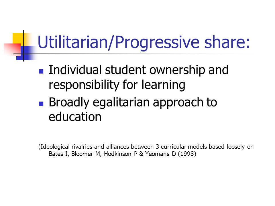 Utilitarian/Progressive share: