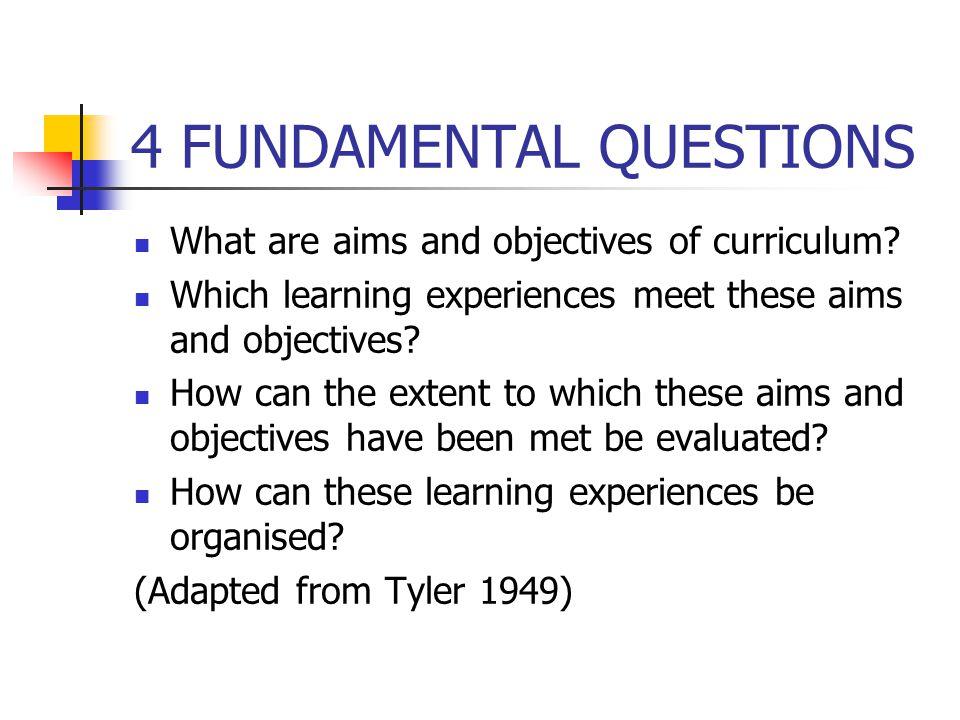 4 FUNDAMENTAL QUESTIONS