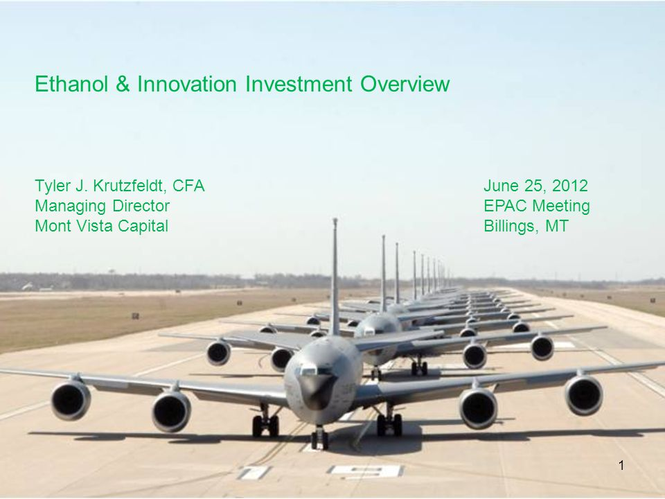 Ethanol & Innovation Investment Overview
