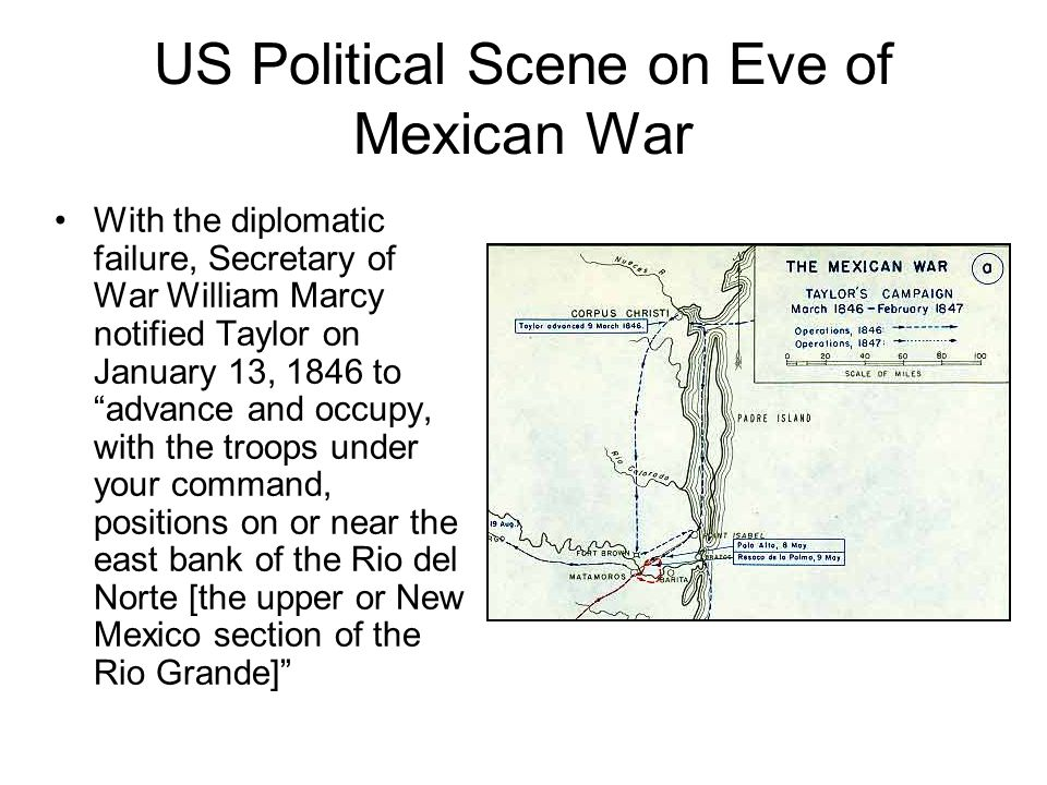 US Political Scene on Eve of Mexican War