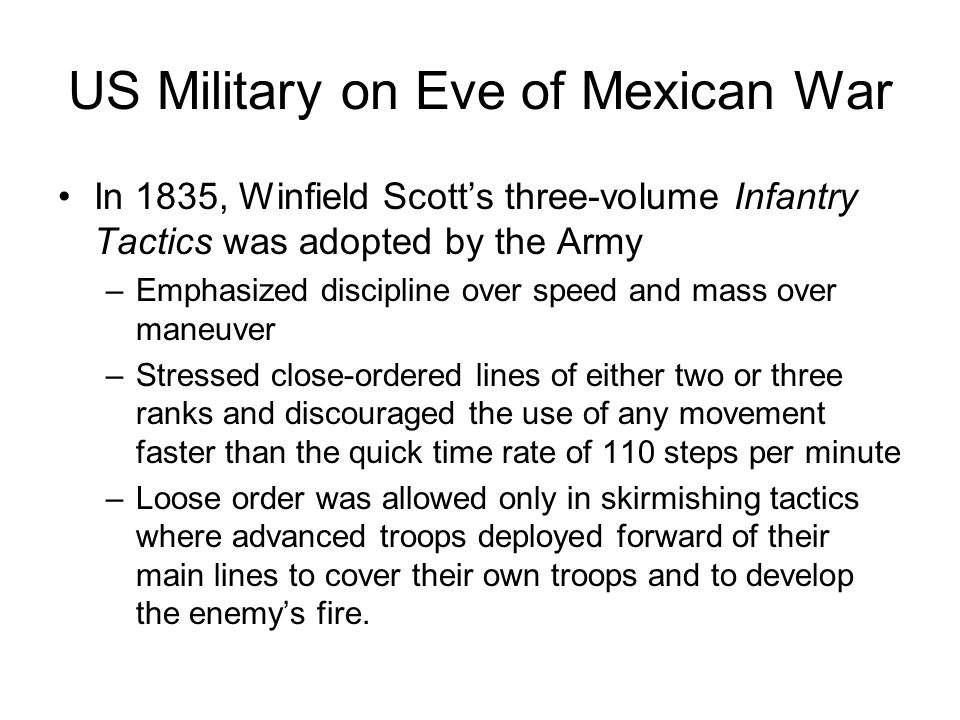 US Military on Eve of Mexican War