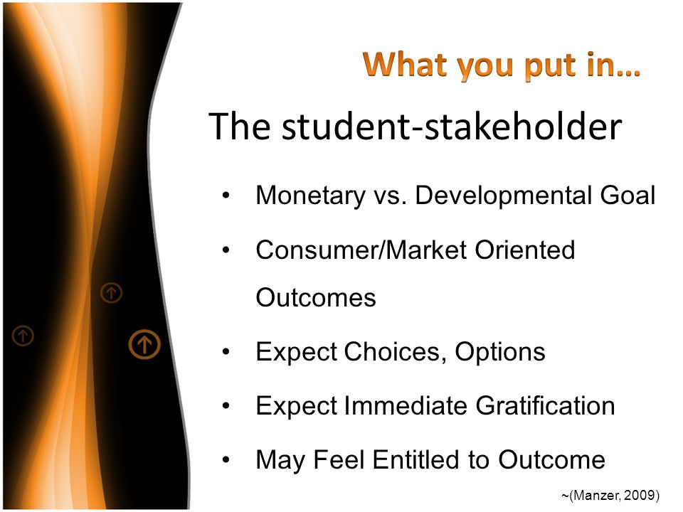 The student-stakeholder