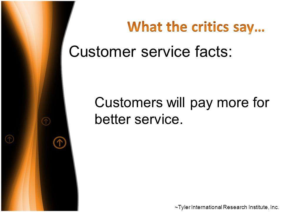 Customer service facts: