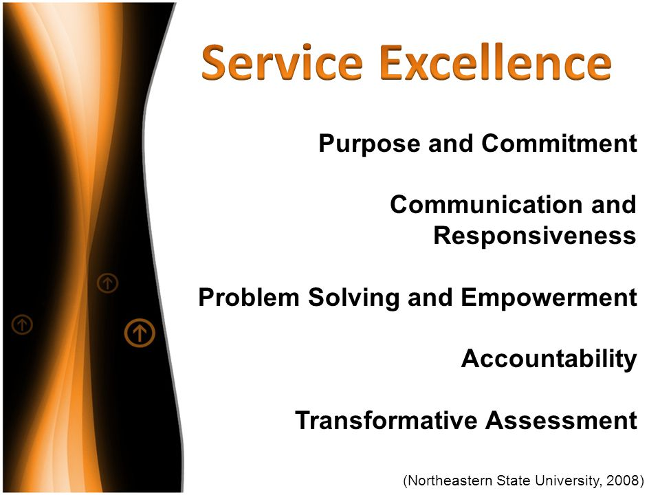 Service Excellence Purpose and Commitment