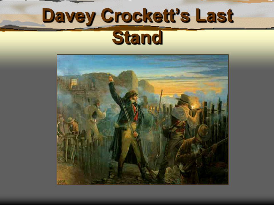 Davey Crockett's Last Stand