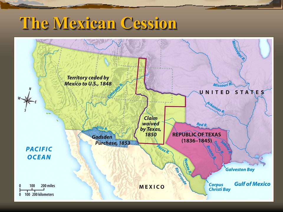 The Mexican Cession Henretta, America's History 5e from http://www.bedfordstmartins.com/mapcentral