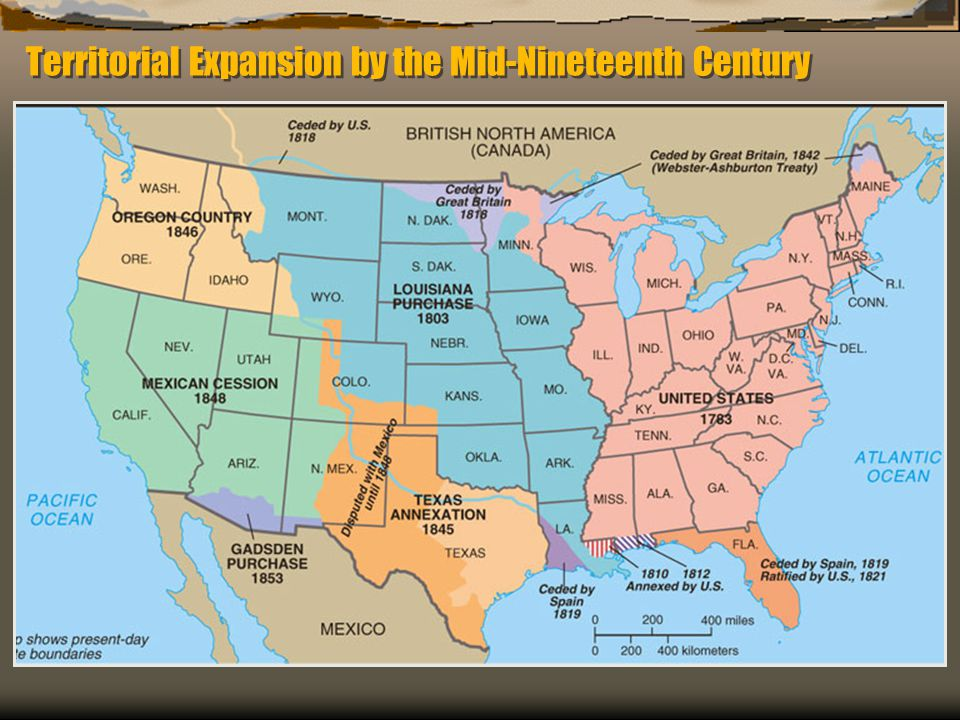 Territorial Expansion by the Mid-Nineteenth Century