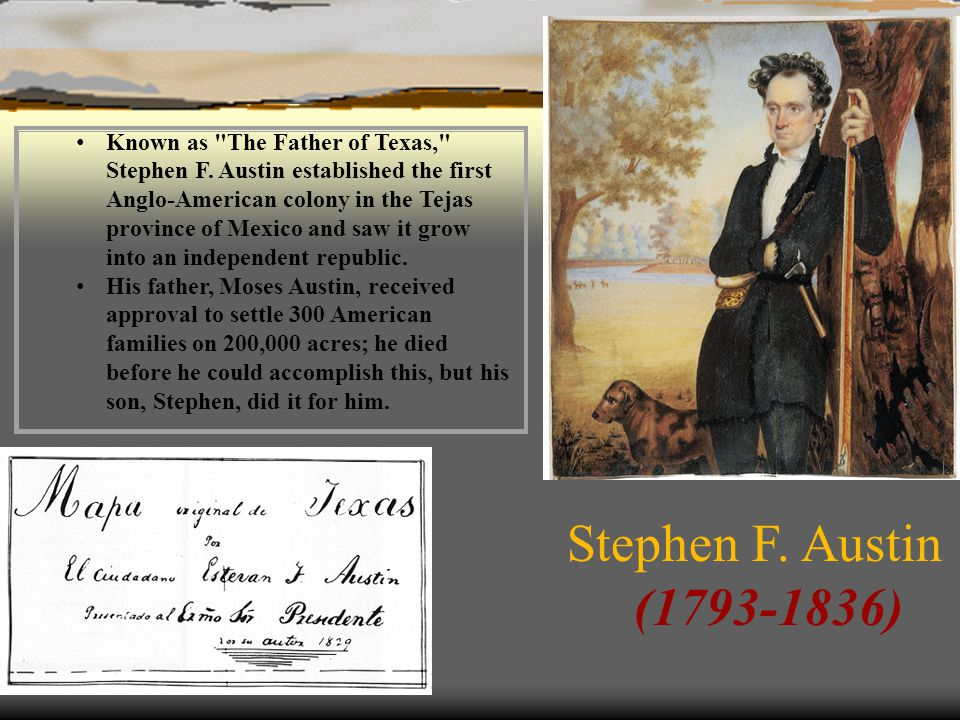 Known as The Father of Texas, Stephen F