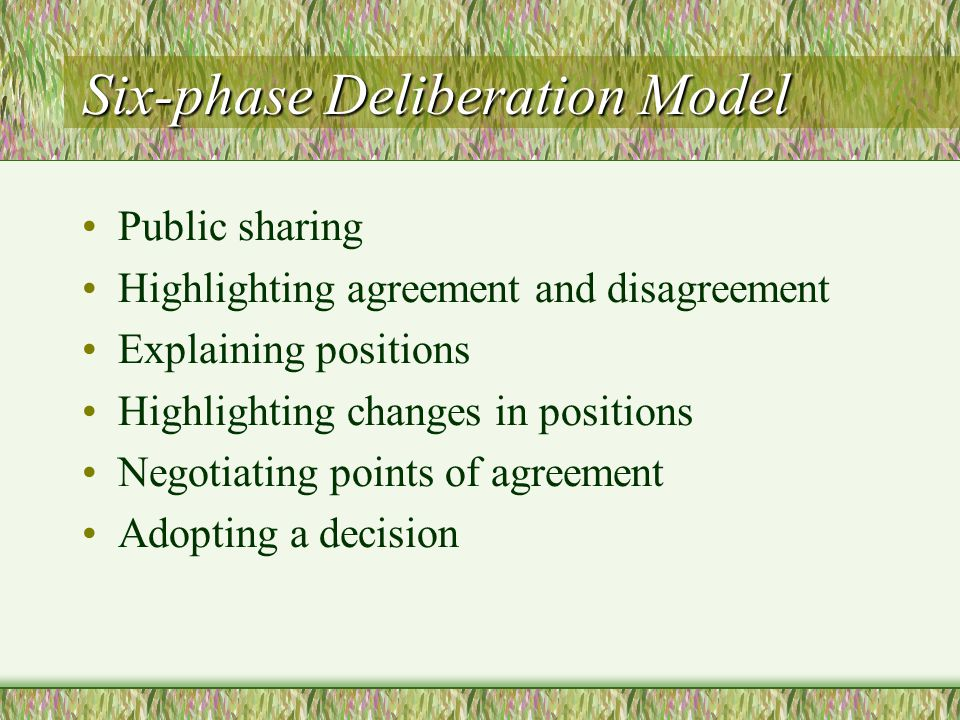 Six-phase Deliberation Model