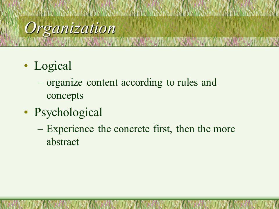Organization Logical Psychological