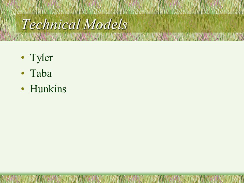 Technical Models Tyler Taba Hunkins