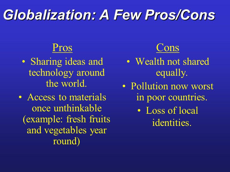 Globalization: A Few Pros/Cons