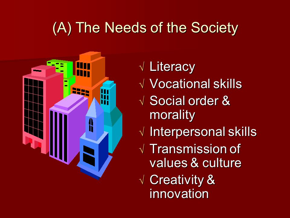 (A) The Needs of the Society