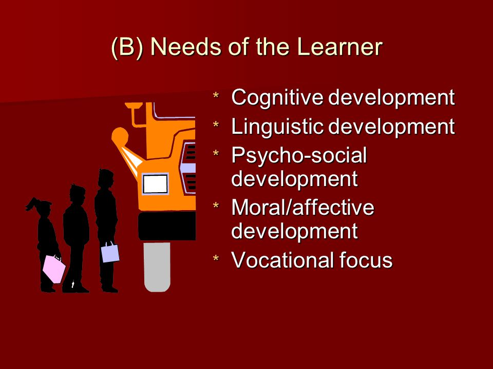 (B) Needs of the Learner