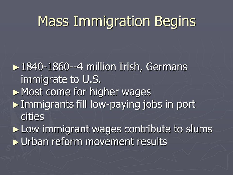 Mass Immigration Begins