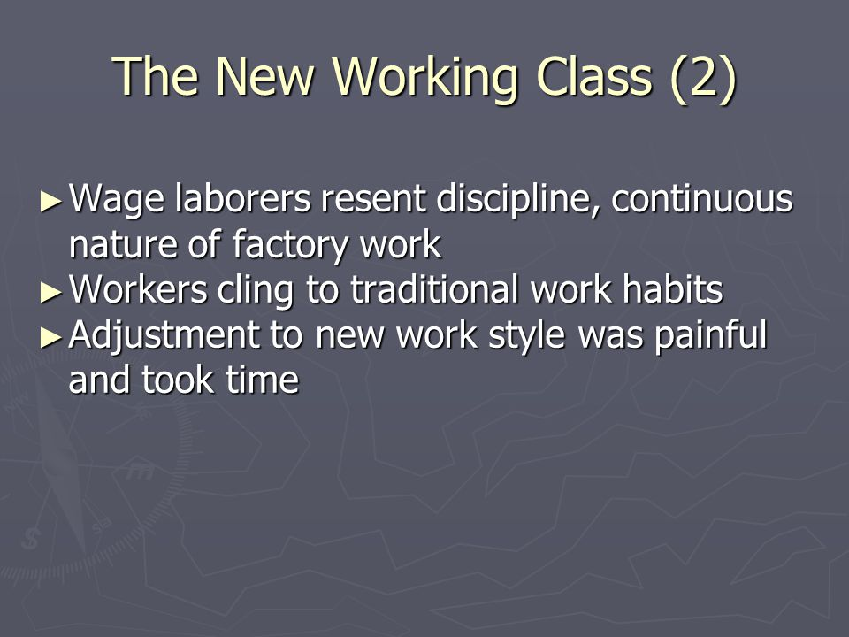 The New Working Class (2)
