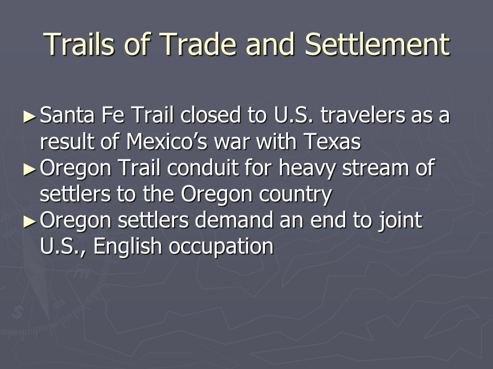 Trails of Trade and Settlement