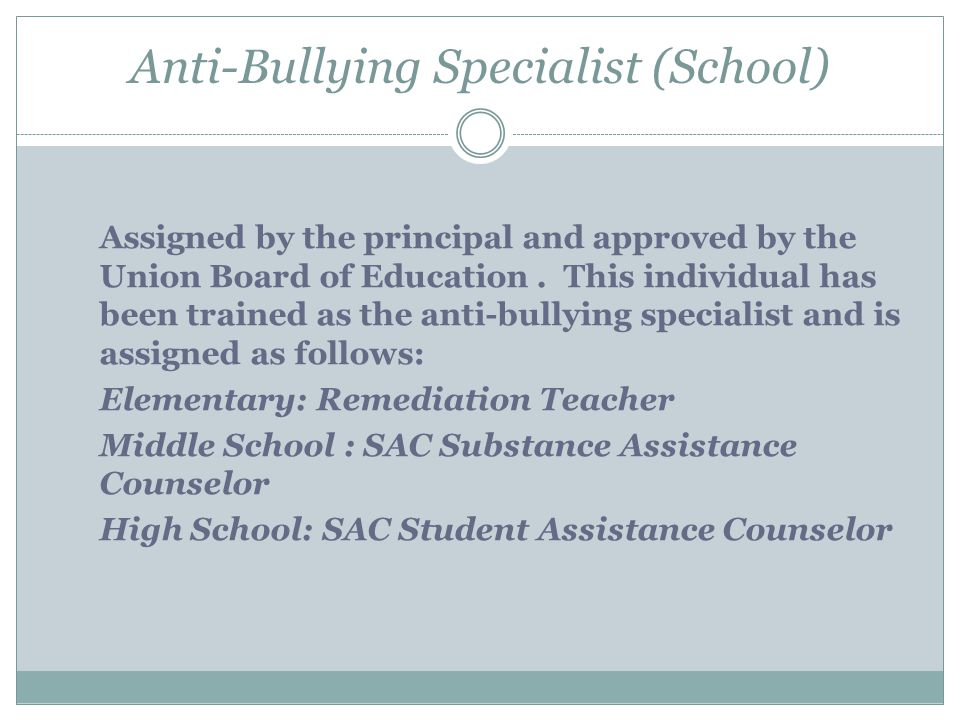 Anti-Bullying Specialist (School)