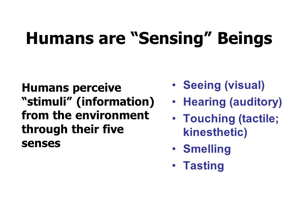 Humans are Sensing Beings