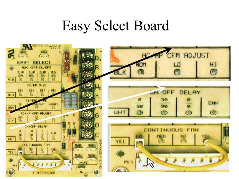 Easy Select Board HP-COMFORT LO CFM ENH DELAY