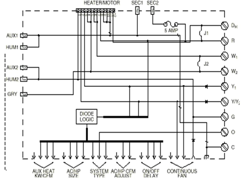 This is a wiring diagram of the FK4C/40FK/FV4A fan coil