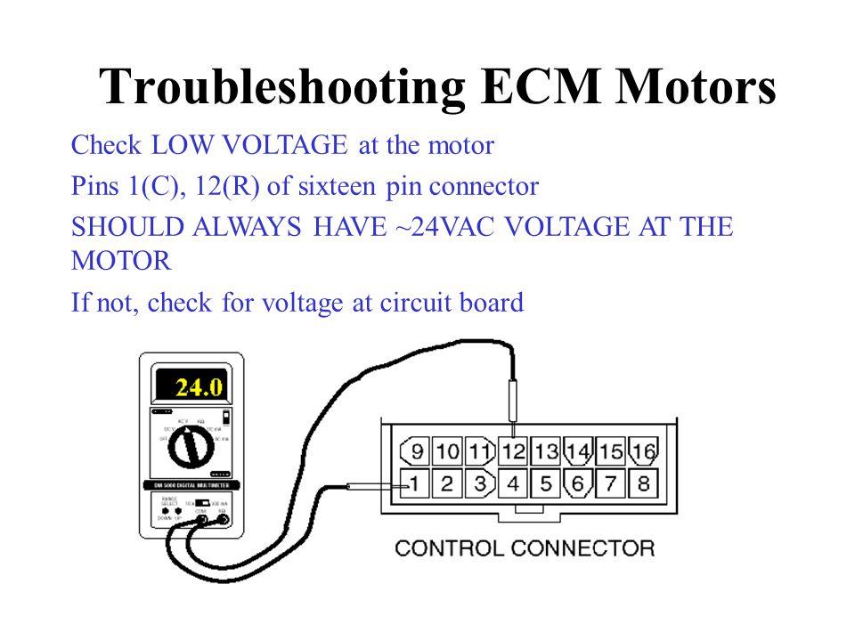 Troubleshooting ECM Motors