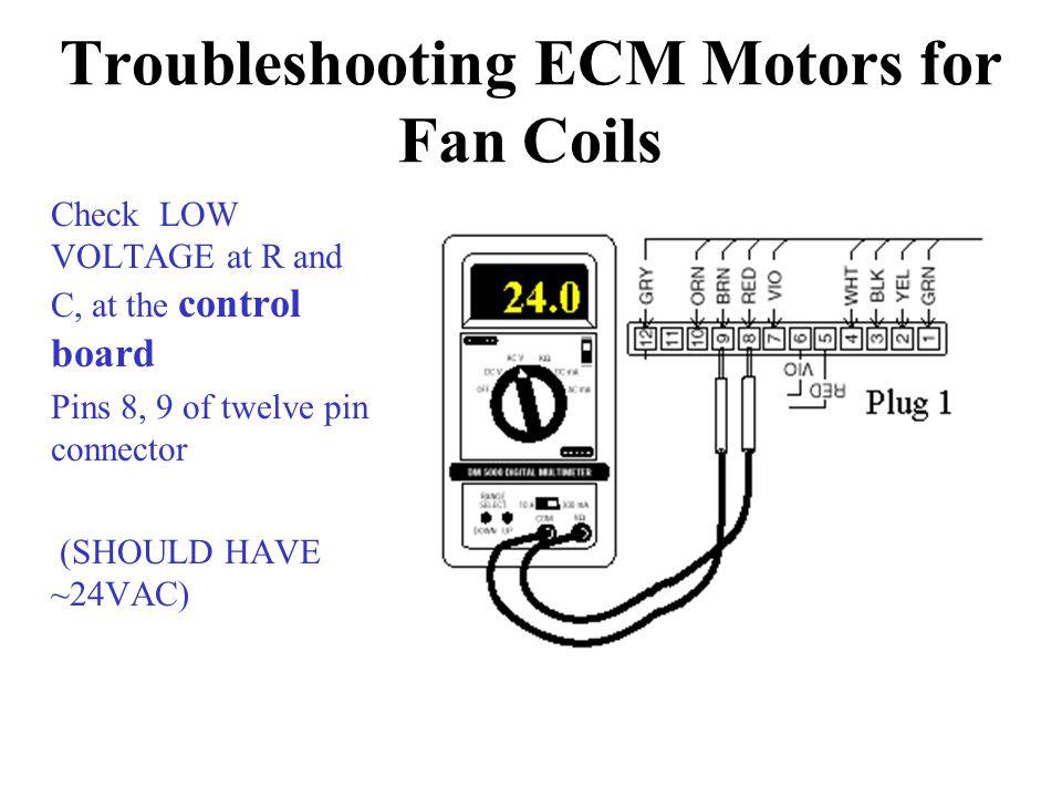 Troubleshooting ECM Motors for Fan Coils