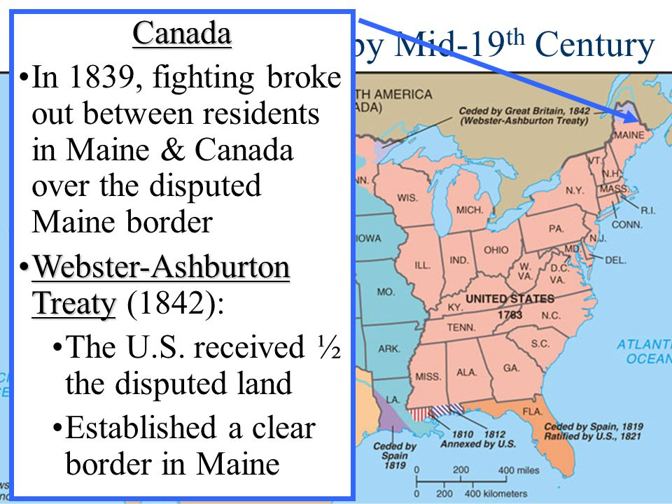 Territorial Expansion by Mid-19th Century