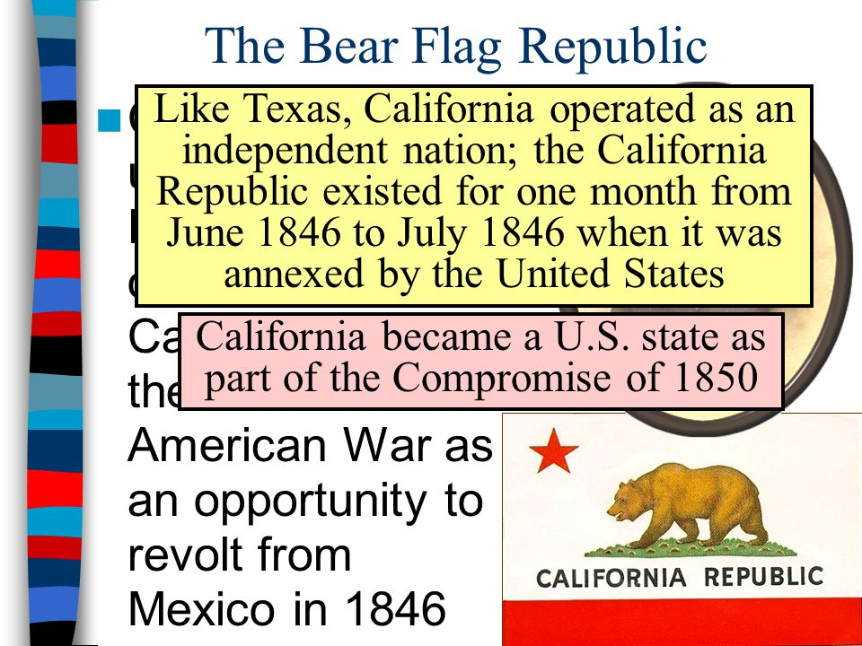 California became a U.S. state as part of the Compromise of 1850