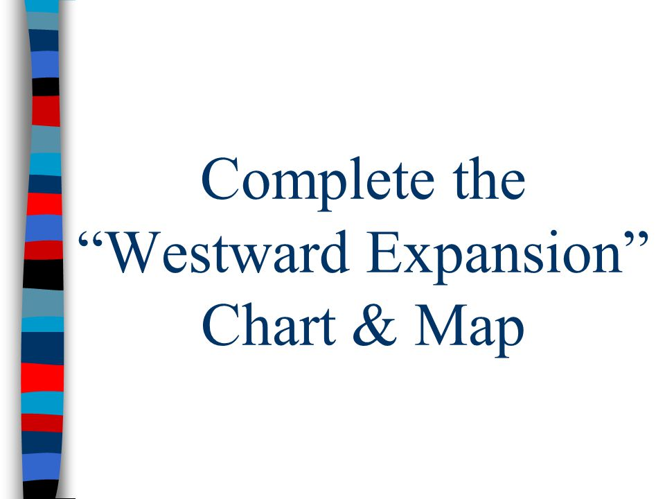 Complete the Westward Expansion Chart & Map