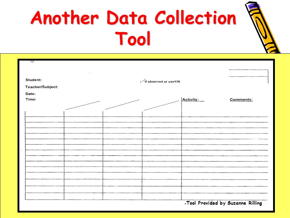 Another Data Collection Tool