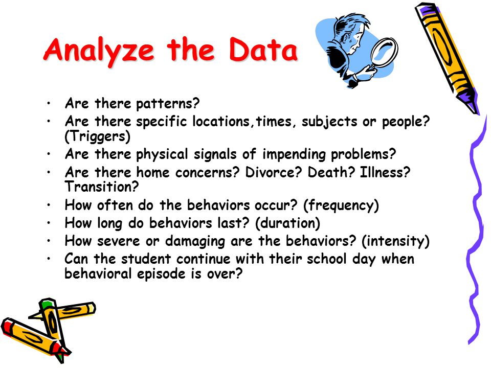 Analyze the Data Are there patterns