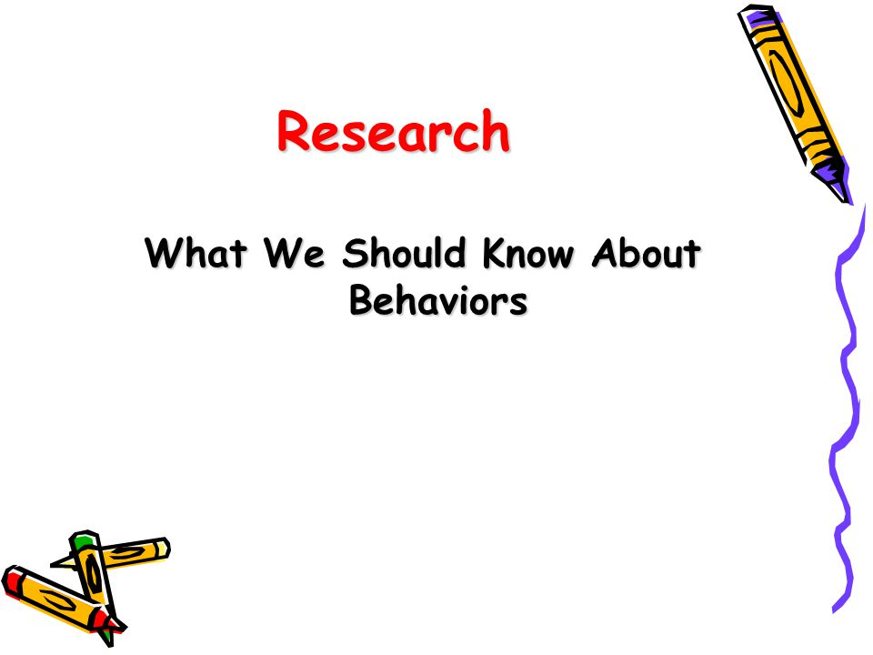 What We Should Know About Behaviors