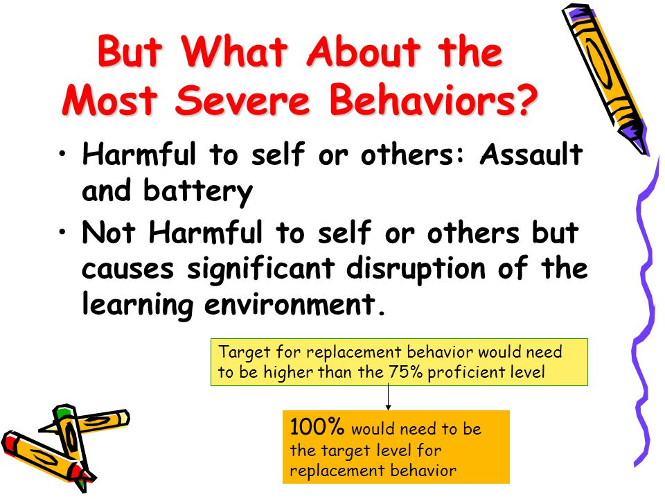 But What About the Most Severe Behaviors