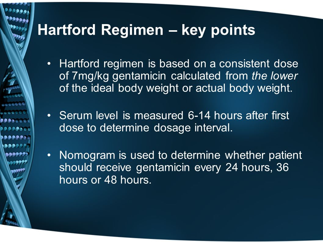 Hartford Regimen – key points