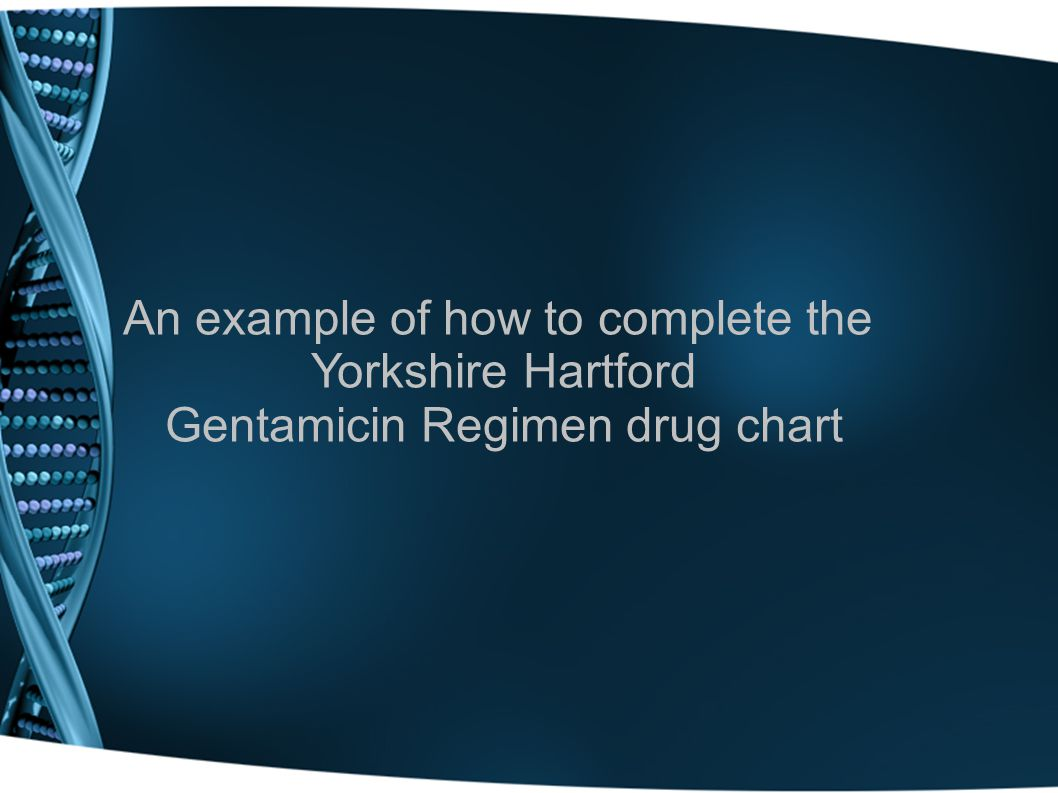 An example of how to complete the Yorkshire Hartford
