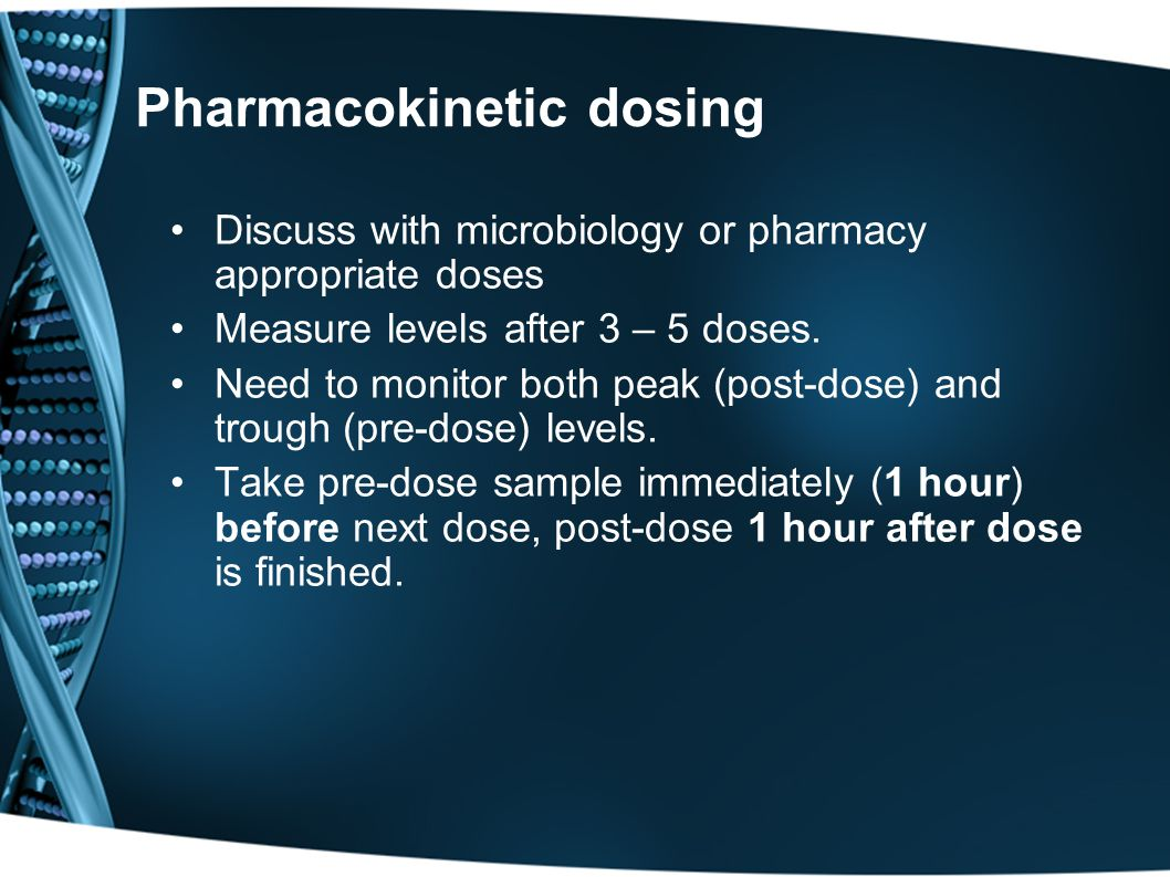 Pharmacokinetic dosing