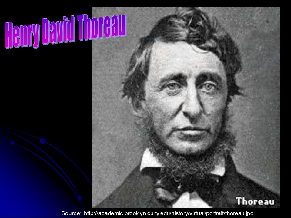 Henry David Thoreau Source: http://academic.brooklyn.cuny.edu/history/virtual/portrait/thoreau.jpg
