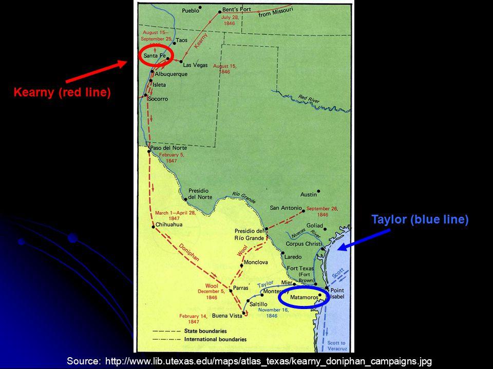 Kearny (red line) Taylor (blue line)