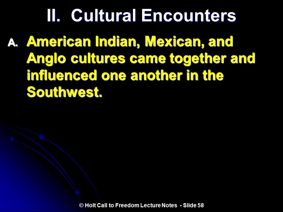 II. Cultural Encounters